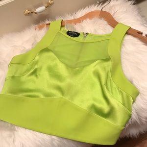 Bebe Neon Green Crop Top